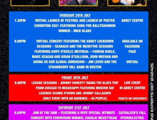 Ballyshannon Folk & Traditional Music Festival Line Up 2021